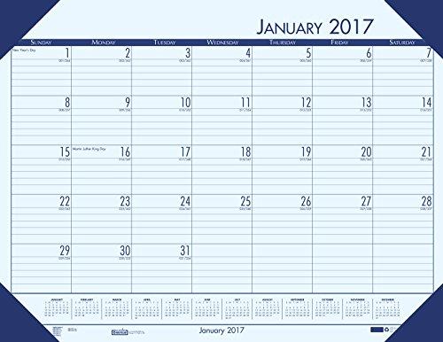 House of Doolittle 2017 Monthly Desk Pad Calendar, EcoTones, Blue Paper, 22 x 17