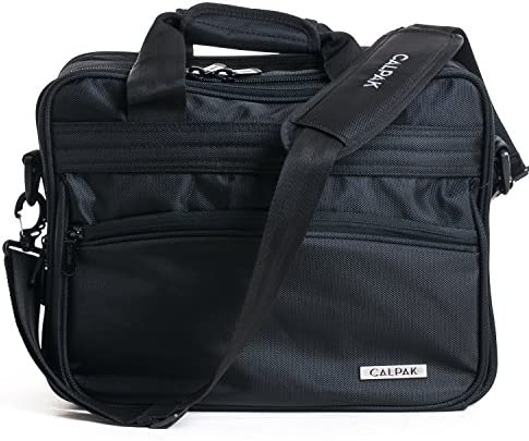 CALPAK First Impression 16-inch Deluxe Laptop Briefcase, Black