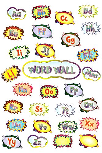 Renewing Minds Superheroes Word Wall Bulletin Board Set, Set of 30 Pieces -