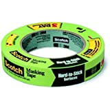 3M Masking Tape for Hard-to-Stick Surfaces, 1-Inch by 60-Yard