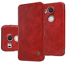 Nillkin LG Nexus 5X Qin Leather Case, Retail Packaging, Red