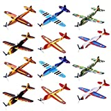 Kicko 12 Pack of Flying Glider Planes - Toys for