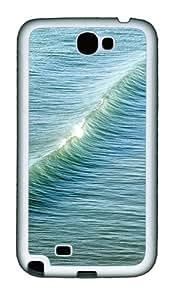 Samsung Galaxy Note II N7100 Cases & Covers -Sea waves Custom TPU Soft Case Cover Protector for Samsung Galaxy Note II N7100¨C White