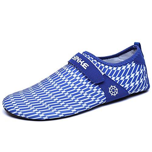 calzado de playa Zapatos secado zapatos natación de esquí zapatos S11 amantes Azul Lucdespo Zapatos de rápido piel cielo transpirable descalzos acuático la pqxz5B7w
