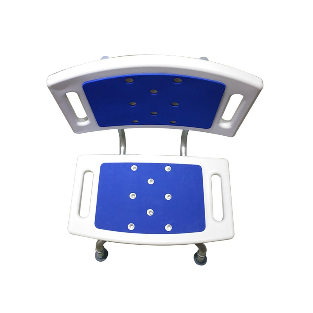 XUEPING バスタブシャワー便器シャワー便器高齢者浴槽後部座席妊娠中の女性バスルーム4フィート伸縮式シャワースツールブルー B07D9GNXFT