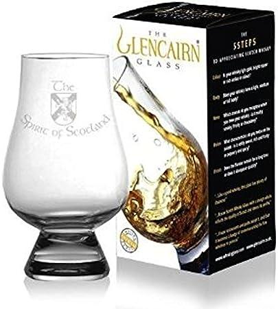 Glencairn - Vaso de degustación de whisky de cristal, diseño de espíritu de Escocia