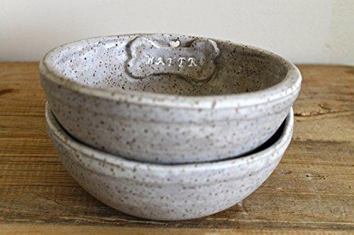 Dog Bowls set of 2- Handmade Ceramic Dog Bowl -Customized Stoneware Bowl for Dog - Stoneware Pet Bowl