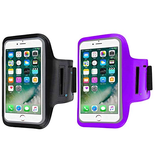 2 Pack Armband Compatible with Large Phone - iPhone Xs Max XR iPhone 8/7/6s/6 Plus,Samsung Galaxy S9,S8 Plus Note 8 3 LG G6, Exercise Running Pouch Phone Holder,Phone Diagonal 5.3