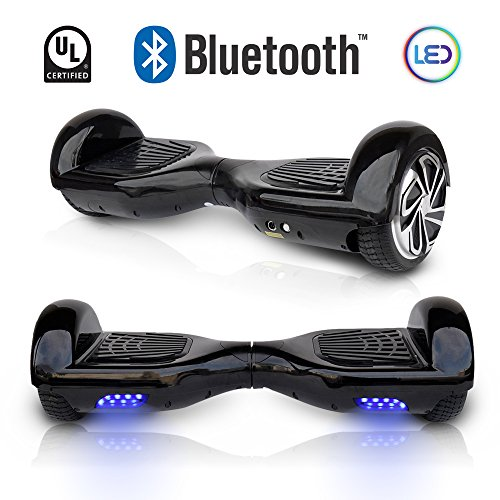 6.5' inch Wheels Original Electric Smart Self Balancing Scooter Hoverboard With Built-In Bluetooth Speaker- UL2272 Certified (BLACK)