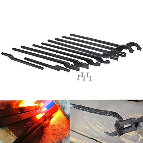 DIY Rapid Tongs Bundle Set Five Types of Tongs Bundle Set with Rivet for Beginners or Blacksmith