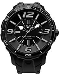 NOA Mens Swiss Automatic Watch - Premium Analog Display With Black Watch Band - Silver Accents Water Resistant...