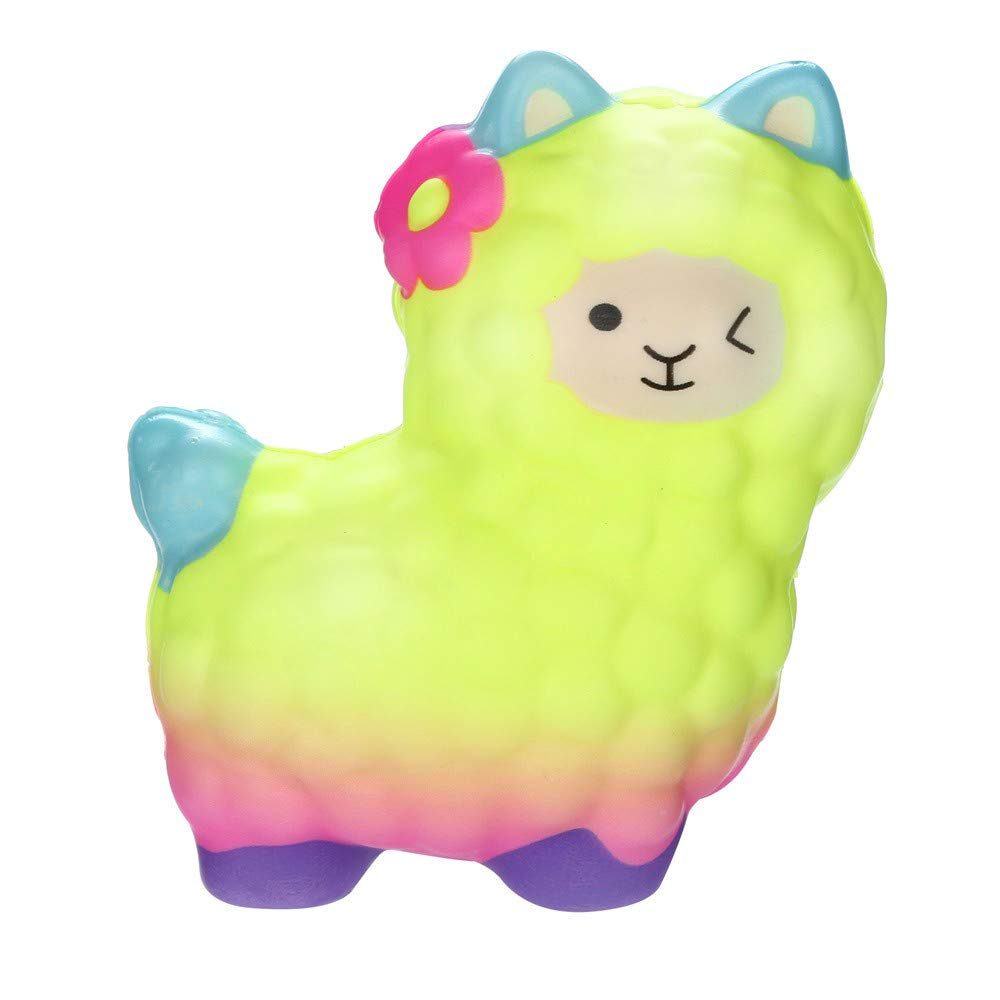callm Squishies Llamas Alpaca Slow Rising Jumbo Squishy Toys Kawaii Cute Scented Squishies Kids Party Squishy Stress Reliever Toy (B)