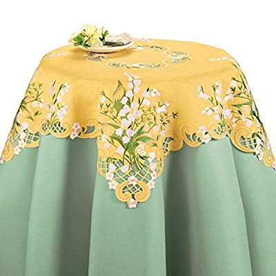 Collections Etc Wedding Bell Flowers Table Linens