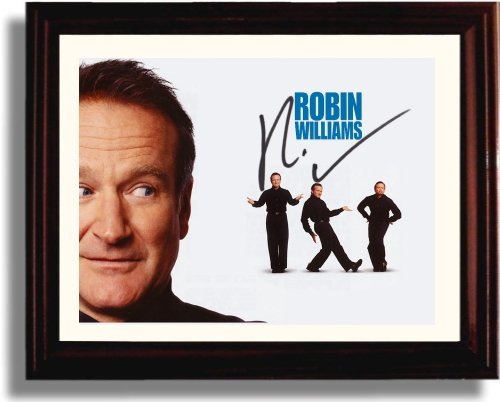 (Framed Robin Williams Autograph Replica Print)