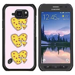 Stuss Case / Funda Carcasa protectora - Coeur d'amour alimentaire Jaune Rose - Samsung Galaxy S6Active Active G890A