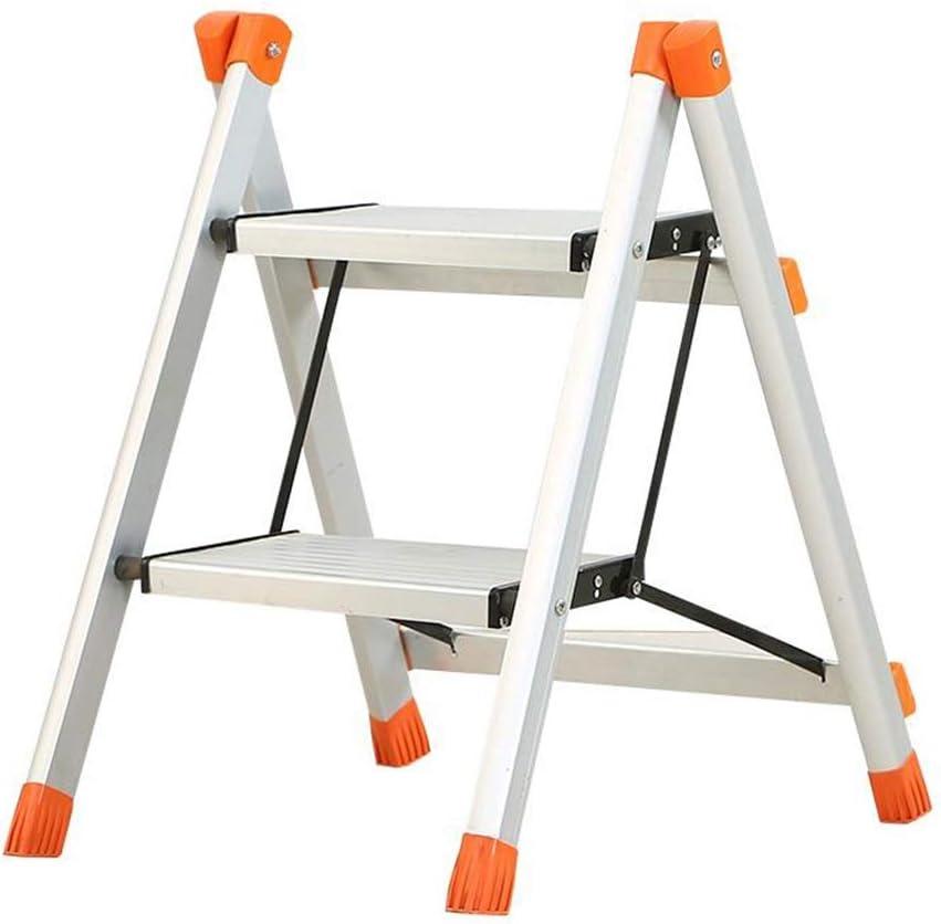 Taburete plegable para niños Escalera de aluminio plegable Escalera de mano ligera para uso doméstico, Taburete con plataforma de trabajo con tapa antideslizante, Capacidad de carga de 220 lb: Amazon.es: Bricolaje y