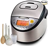 #2: Tiger Corporation JKT-S18U-K IH (10 Cups Uncooked/20 Cups Cooked) Rice Cooker with Slow Cooker and Bread Maker, Stainless Steel, Black
