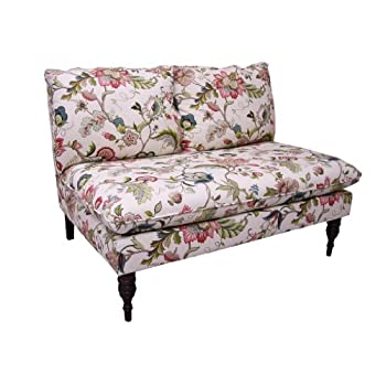 Skyline Furniture Armless Settee in Brissac Jewel