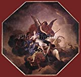 LE BRUN CHARLES THE TRIUMPH OF FAITH ARTIST PAINTING REPRODUCTION HANDMADE OIL 40x40inch MUSEUM QUALITY