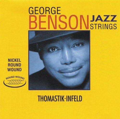 Thomastik cuerda Sol .020rw níquel, entorchado plano GR20 para Guitarra Eléctrica George Benson Jazz juego GR112