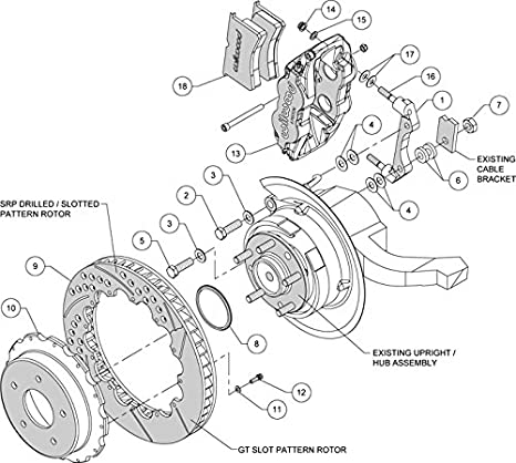 Amazon Com New Wilwood Disc Brake Kit 13 Rotors Red 6 Piston