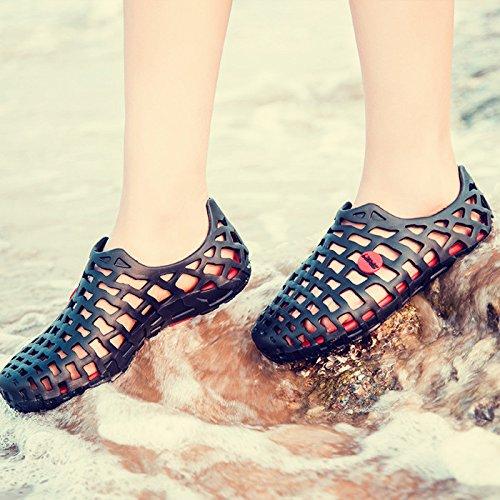 dérapant couple d'été été pantoufles épais Pantoufles deux sandales 44 anti salle CWJDTXD et femmes marine bains pantoufles fond Style maison doux lumière hommes de coréen paires Raxxw5nqF