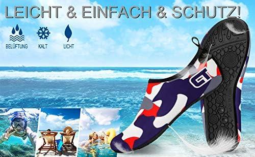 GEYUEYA Home Strandschuhe Badeschuhe Wasserschuhe Schwimmen Schuhe Schwimmschuhe Surfschuhe Barfu/ß Badeschuhe Schnell Trocknend rutschfest Leicht f/ür Damen Herren Wassersport Beach Pool Yoga