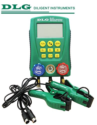 (DLG DI-517 Digital Manifold Guage 2 Clamp-on Temperature Probes Refrigeration System)