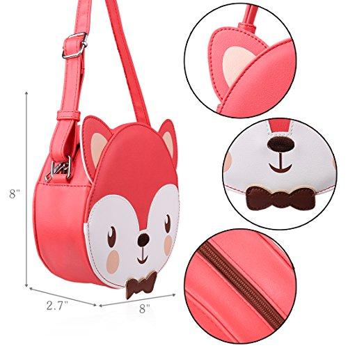 Handbag Fun Leather Purse amp; Design Faux Shaped Girl Little Red Ava Kings Fox Xxv4wq4Y