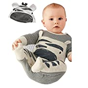 1Set Newborn Infant Baby Boys Girls Romper (Age 0-6M, Gray)