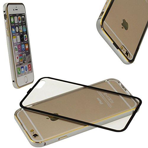 Apple iPhone 6S / 6 Aluminium Alu Schutzhülle Bumper Case Cover Deckel Silber von cTRON21