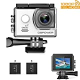 #10: DBPOWER EX5000 Action Camera WiFi 1080P HD Sport Camera 14MP 170 Degree Wide Angle 2 Inch LCD Screen 2 Rechargeable Batteries 16 Accessories Kits