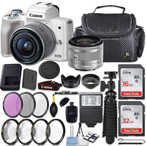Canon EOS M50 24.1MP Mirrorless Digital Camera  + EF-M 15-45