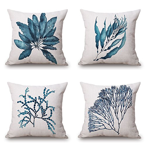BPFY 4 Pack Home Decor Cotton Linen Watercolour Pattern Sofa