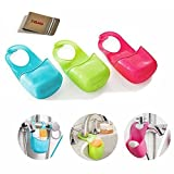 E'Plaza Convenient Sponge Holder Sink Holder Soap Dish Clean & Dry Soap Holder Kitchen Gadget Organizer (3 single)