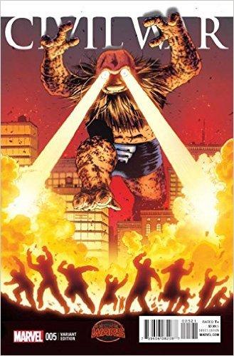 Civil War #5 Cassaday Kirby Monster Variant