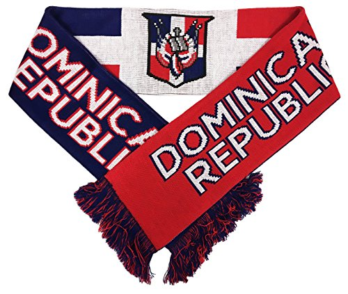 RUFFNECK National Soccer Team Dominican Republic International Soccer Team Scarves, One Size, Red