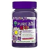 Vicks Pure Zzzs Kidz Melatonin Lavender Sleep Aid Gummies for Children, Natural Berry, 48 Count
