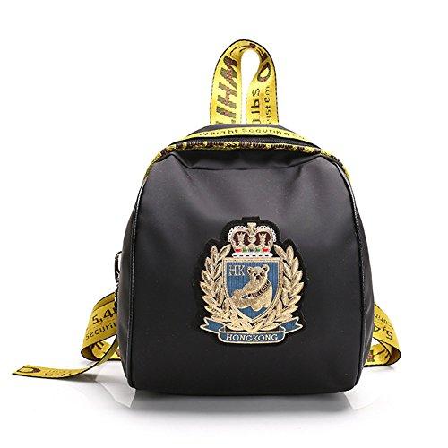FTSUCQ Womens/Girls Nylon Backpack Travel Daypack Tote School Bags Shoulder - London Beckham Victoria Shop