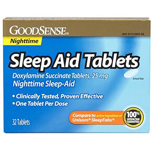 GoodSense Sleep Aid Doxylamine Succinate tablets, 25mg, 32-count