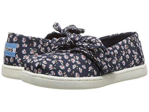 TOMS Kids Baby Girl's Alpargata (Infant/Toddler/Little Kid) Navy Ditzy Daisy/Bow 10 M US Toddler
