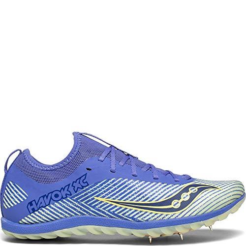(Saucony Women's Havok XC2 Track Shoe, Purple/Yellow, 6.5 M US)