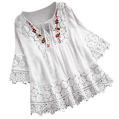 Women Tops Gibobby Women's Button Down Loose Tunic Pullover Short Sleeve T-Shirt Summer Plus Size Cotton Blouse Tee