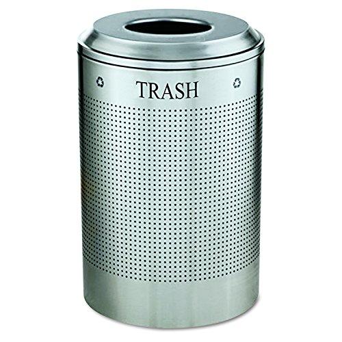 - Rubbermaid Commercial Silhouette Trash Can, 26 Gallon, Textured Silver, FGDRR24TSM