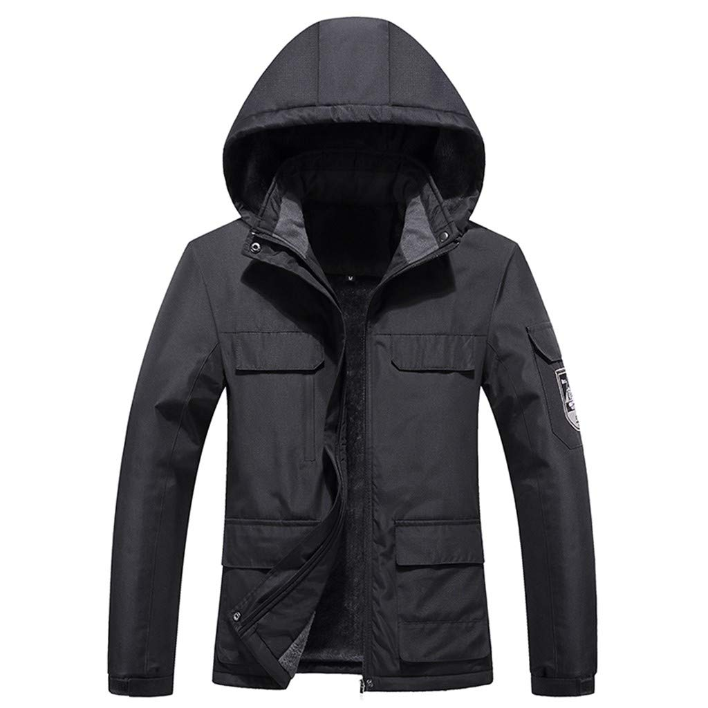 YANG-YI Sports Womens Coats Casual Ladies Outdoor Waterproof and Scratch-ProofJacket Multi-Pocket Charger Black by YANG-YI