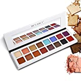 DE'LANCI Pro Eyeshadow Palette Makeup, Shimmer + Matte 16 Colors - Highly Pigmented – Multi-color Collection Eye Shadows Set