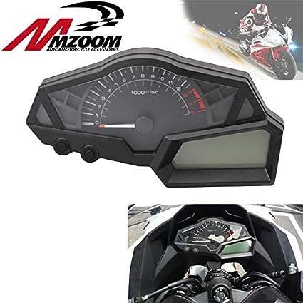 Amazon.com: Tacómetro de velocímetro negro para motocicleta ...