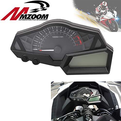 - |Instruments|Motorcycle Black Dashboard Speedometer Tachometer for KAWASAKI NINJA 300 EX300A 2013 2014 2015 Racing Motocross Speedometer|by ATUKI|