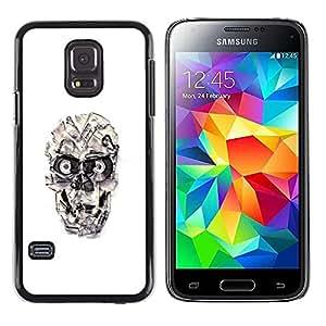 Caucho caso de Shell duro de la cubierta de accesorios de protección BY RAYDREAMMM - Samsung Galaxy S5 Mini, SM-G800 - Cráneo cinta Casette