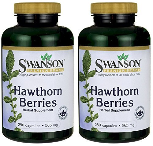 - Swanson Hawthorn Berries Heart Nutrition Supplement 565 mg 250 Capsules (2 Pack)